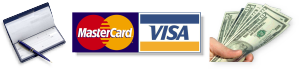 Check-Master-Card-Visa-Cash